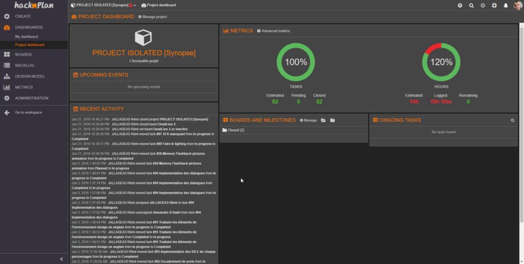 Hack n Plan Management Tool